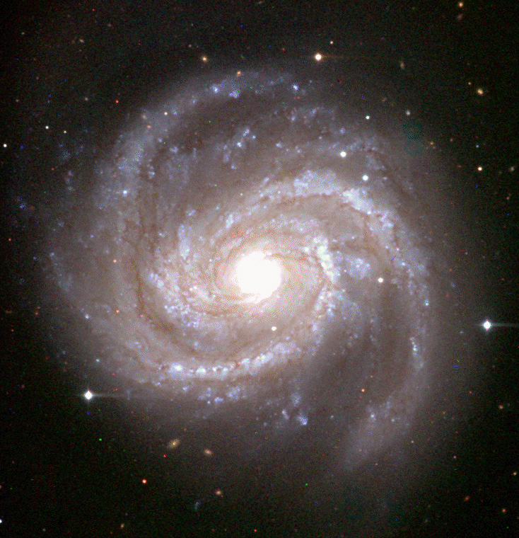 Galaxy M100 taken with the Isaac Newton Telescope and Wide Field Camera by Simon Driver.